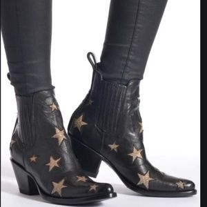 MEXICANA BLACK & GOLD REACH FOR THE STARS BOOTS
